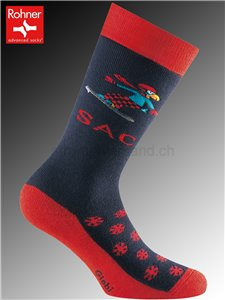 SAC Globi Ski chaussettes Rohner pour enfants - 114 vulkan
