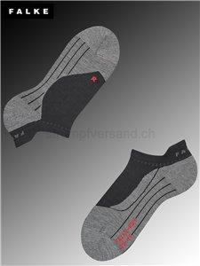 RU4 Invisible women chaussettes de course Falke - 3010 black-mix