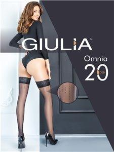 Omnia 20 - Bas autofixants avec couture pointillée