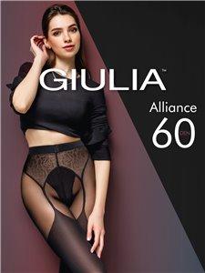 ALLIANCE - Collant Giulia en aspect bas porte-jarretelles