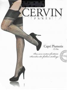 CERVIN Capri Plumetis 15 - bas nylon