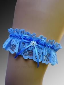 Jarretière - bleue/bleue